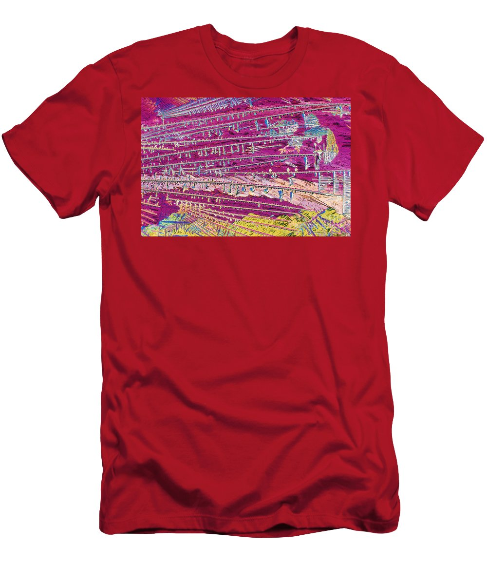 Insecticide Men's T-Shirt (Athletic Fit) featuring the photograph Malathion by Michael W. Davidson