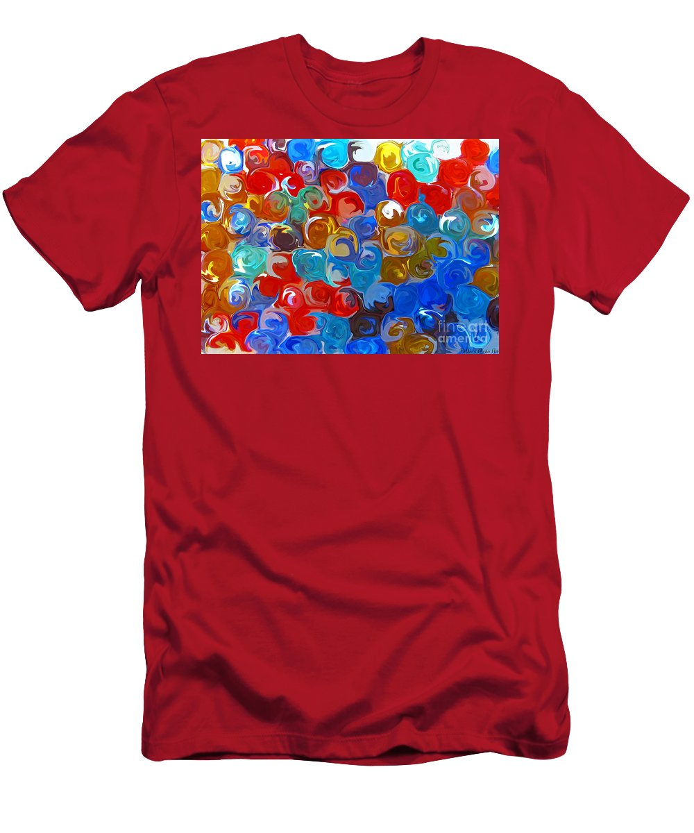 Abstract Men's T-Shirt (Athletic Fit) featuring the digital art Marble Collection Abstract by Debbie Portwood