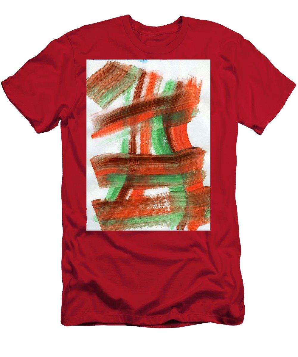 Mending Fences Men's T-Shirt (Athletic Fit) featuring the painting Mending Fences by Taylor Webb