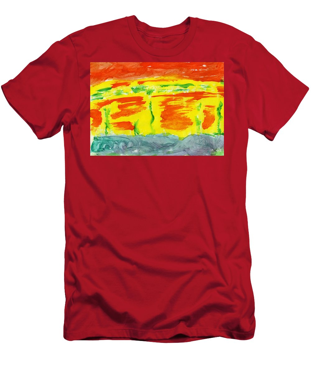 Molten River Men's T-Shirt (Athletic Fit) featuring the painting Molten River by Taylor Webb