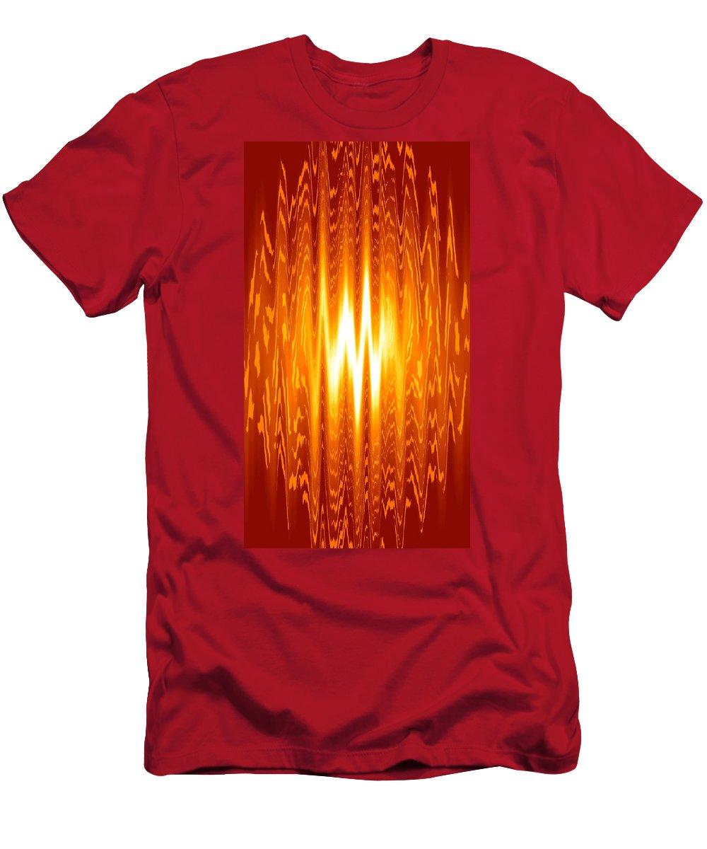 Moveonart! Global Gathering -- Digital Abstract Art By Artist Jacob Kane -- Omnetra Men's T-Shirt (Athletic Fit) featuring the digital art Moveonart Knowwhentostop by Jacob Kanduch