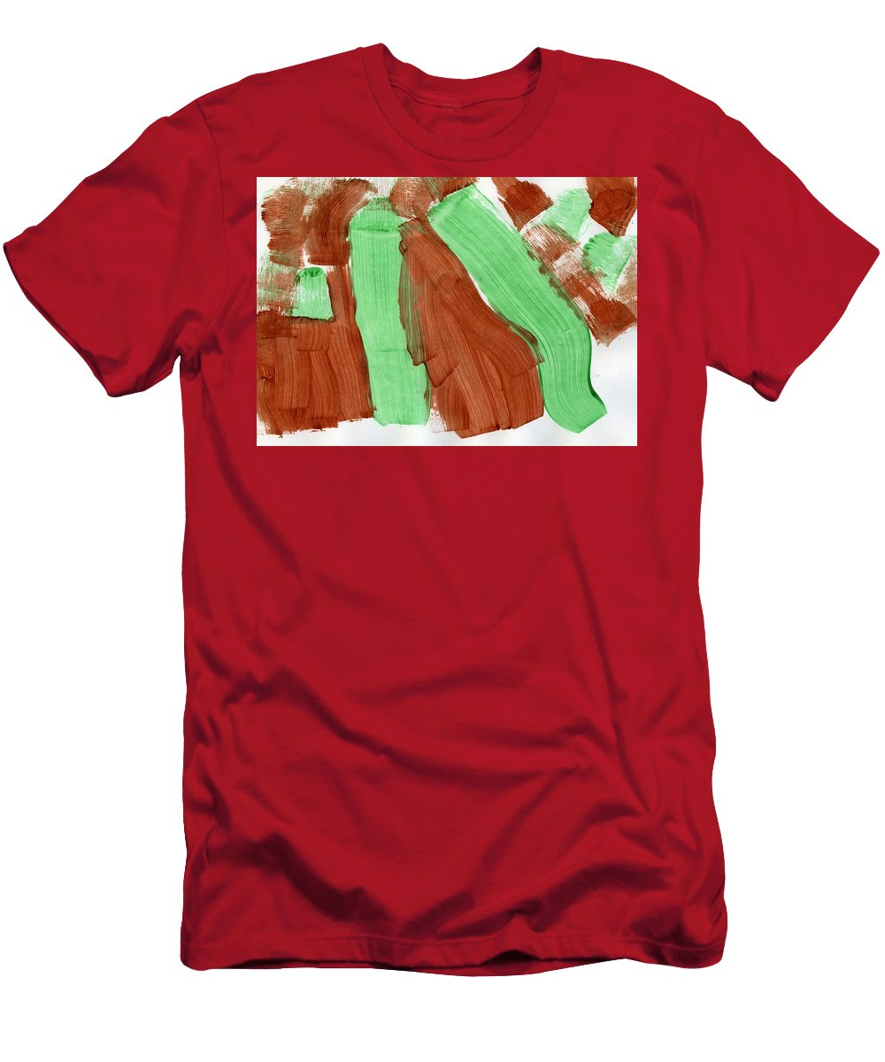 Natural Pastures Men's T-Shirt (Athletic Fit) featuring the painting Natural Pastures by Taylor Webb