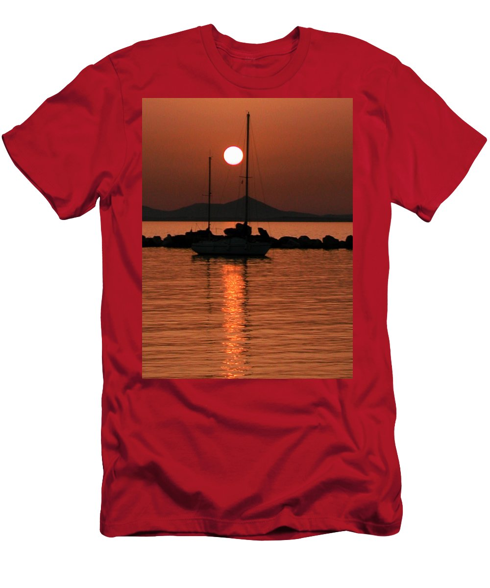 Coletteguggenheim Men's T-Shirt (Athletic Fit) featuring the photograph Naxos Island Greece by Colette V Hera Guggenheim