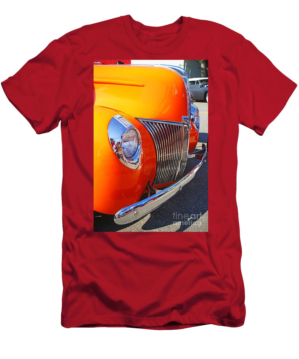 Custom Cars Men's T-Shirt (Athletic Fit) featuring the photograph Orange Beauty by Randy Harris