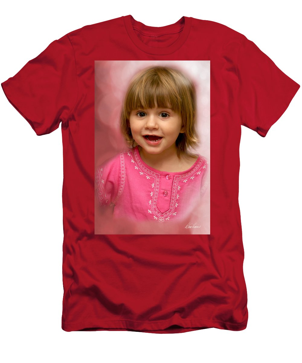 Child Men's T-Shirt (Athletic Fit) featuring the photograph Pink Bubbles by Diana Haronis