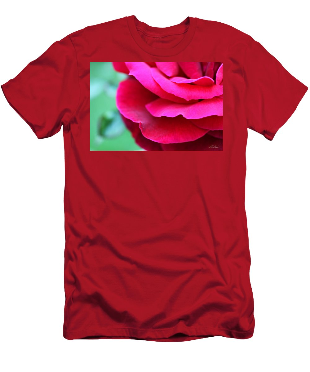 Rose Men's T-Shirt (Athletic Fit) featuring the photograph Profile Of A Rose by Diana Haronis