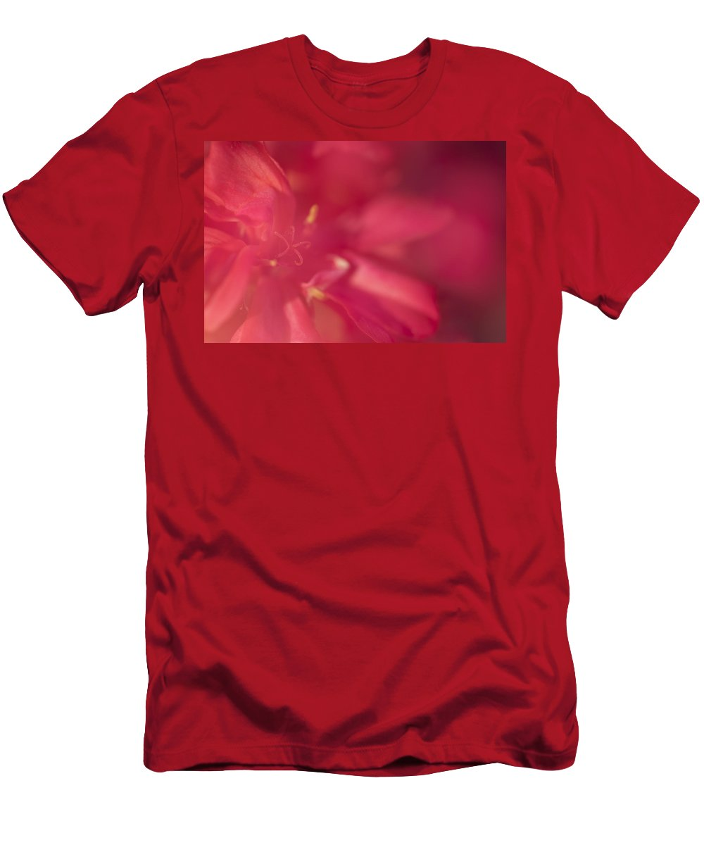 Flower Men's T-Shirt (Athletic Fit) featuring the photograph RED by Guido Montanes Castillo