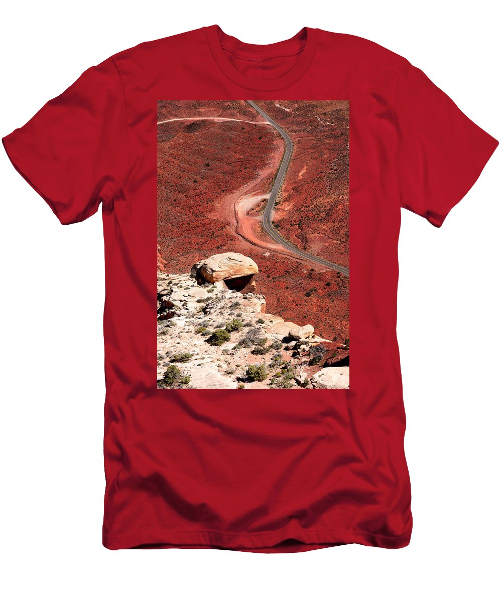 Highway Men's T-Shirt (Athletic Fit) featuring the photograph Red Rover by Jason Smith