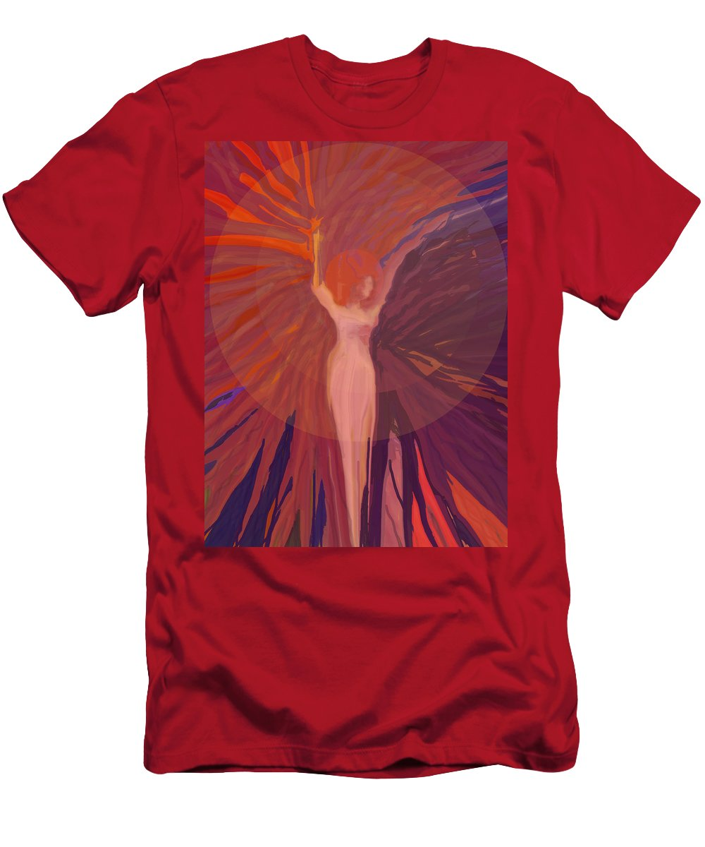 Abstract T-Shirt featuring the digital art Rising From The Ashes by Ian MacDonald