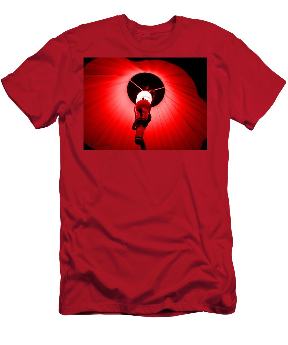 Light Men's T-Shirt (Athletic Fit) featuring the photograph Roxannes Red Light by Shana Rowe Jackson
