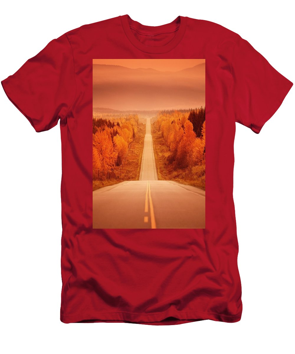 Highway Men's T-Shirt (Athletic Fit) featuring the photograph Scenic Highway by Con Tanasiuk