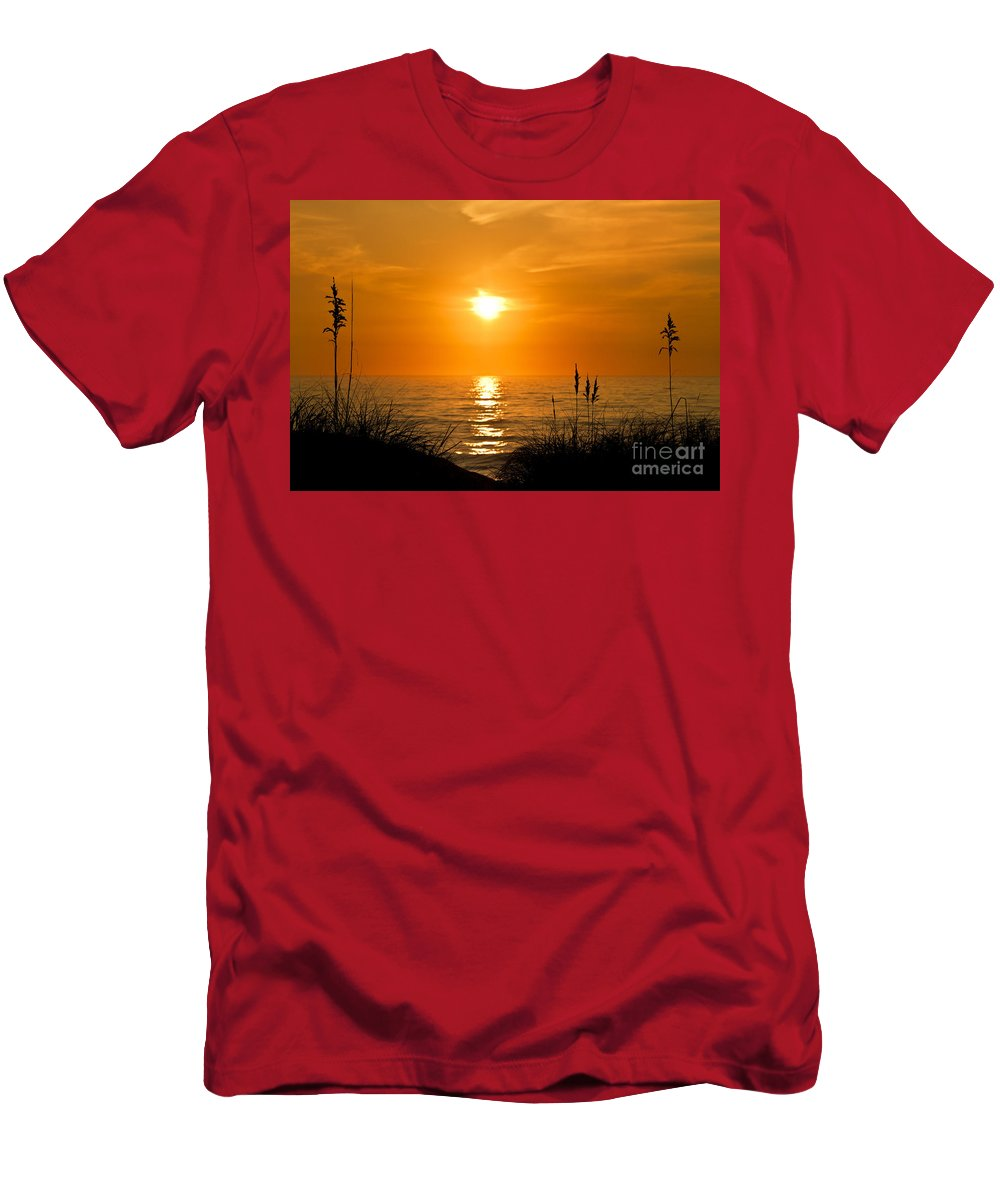 Beach Men's T-Shirt (Athletic Fit) featuring the photograph Sea Oats by John Greim