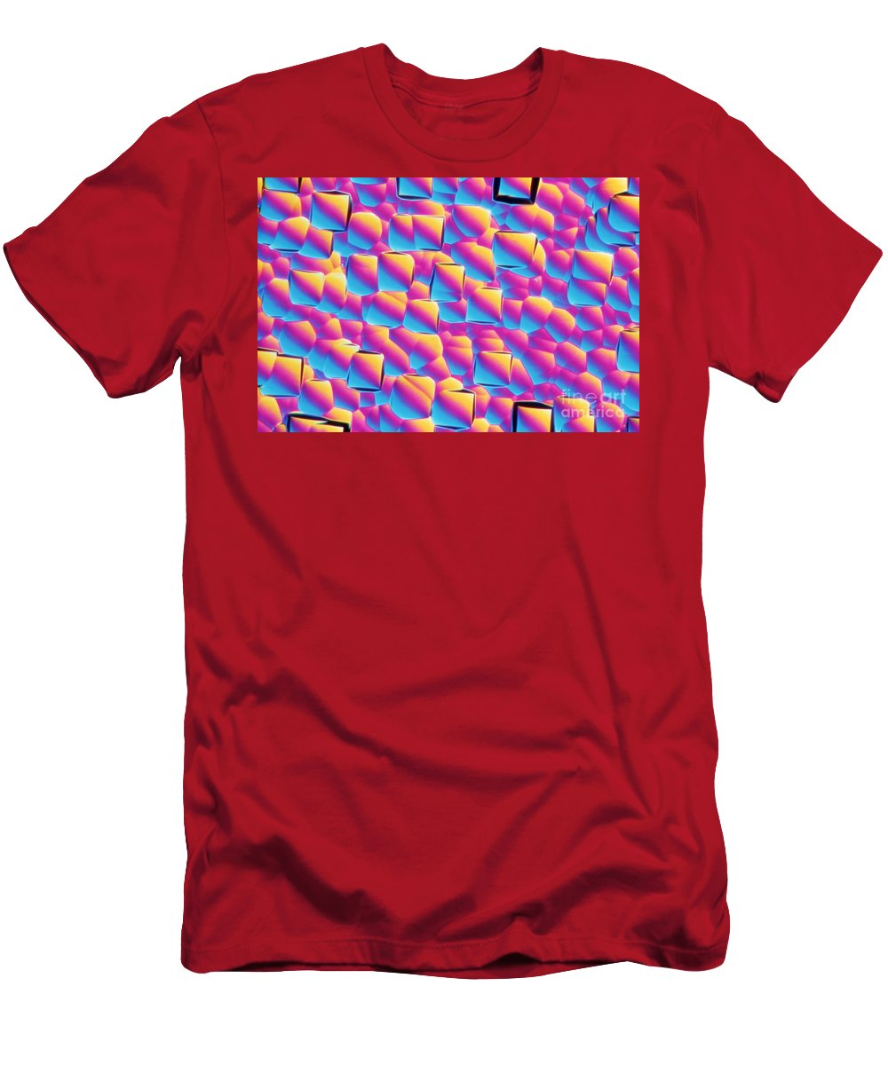 Magnified Men's T-Shirt (Athletic Fit) featuring the photograph Silicon Wafer by M. I. Walker