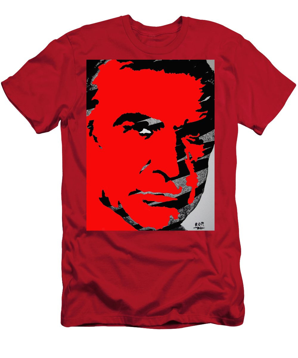 James Bond Men's T-Shirt (Athletic Fit) featuring the photograph Sir Sean Connery by Robert Margetts