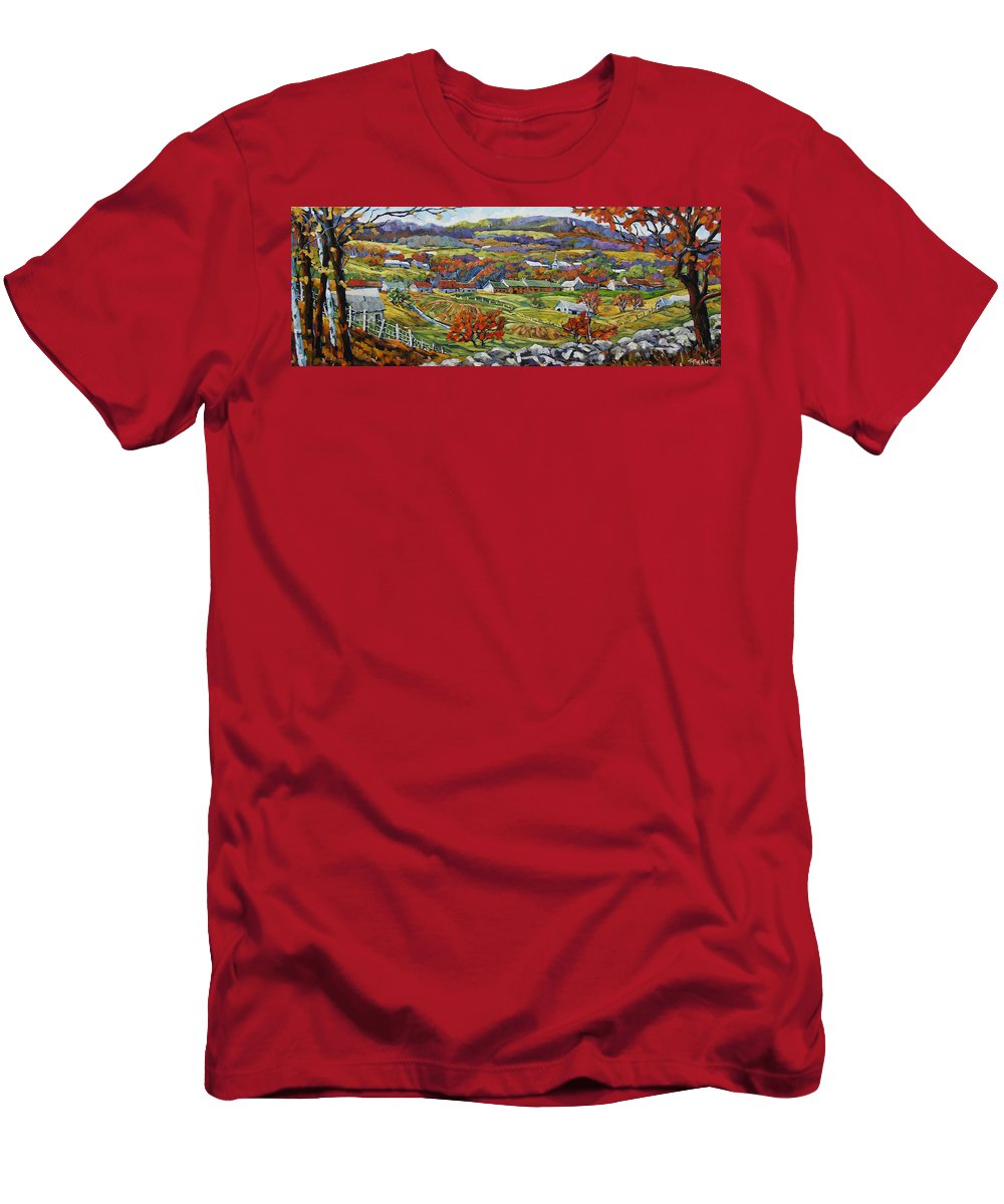 Art T-Shirt featuring the painting Souvenir 05 Chateau Richer Old Quebec By Prankearts by Richard T Pranke