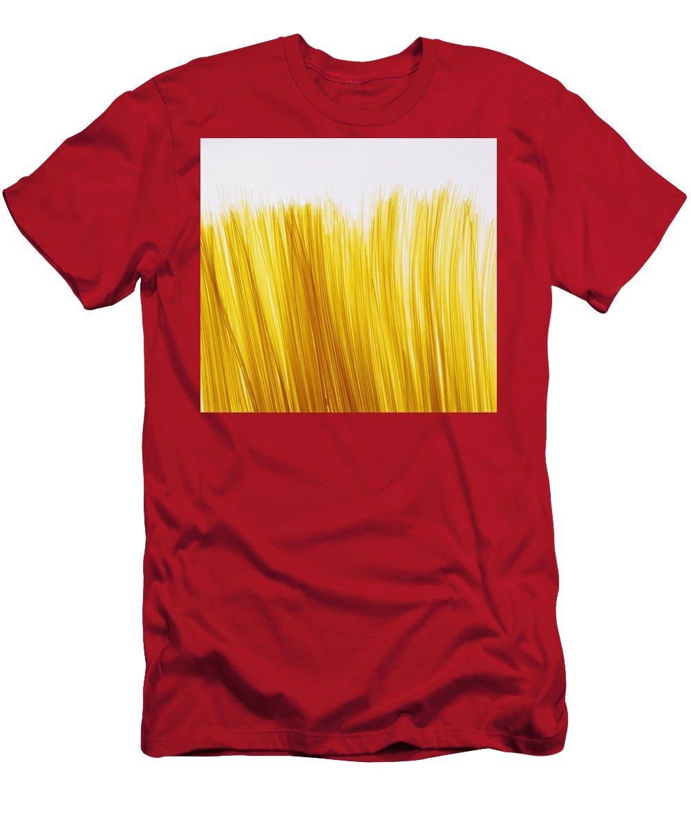 Pasta Men's T-Shirt (Athletic Fit) featuring the photograph Spaghetti by David Chapman