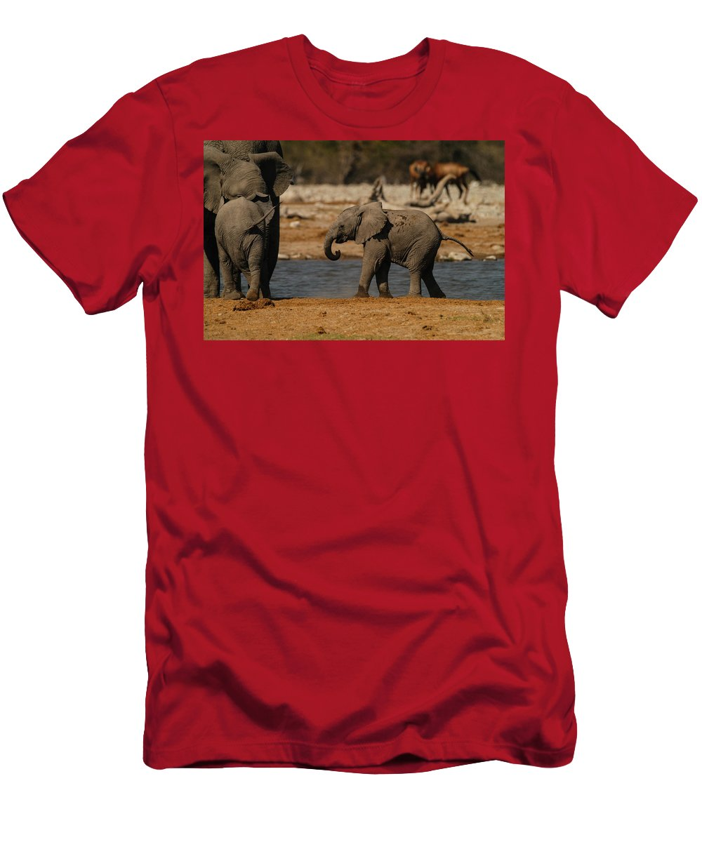 Action Men's T-Shirt (Athletic Fit) featuring the photograph Start The Dance by Alistair Lyne