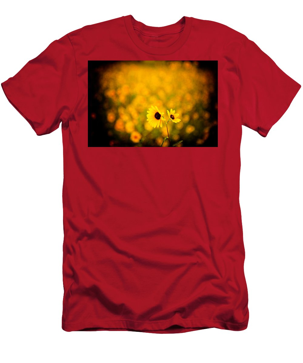 Sunflower Men's T-Shirt (Athletic Fit) featuring the photograph Sunflowers by Scott Sawyer