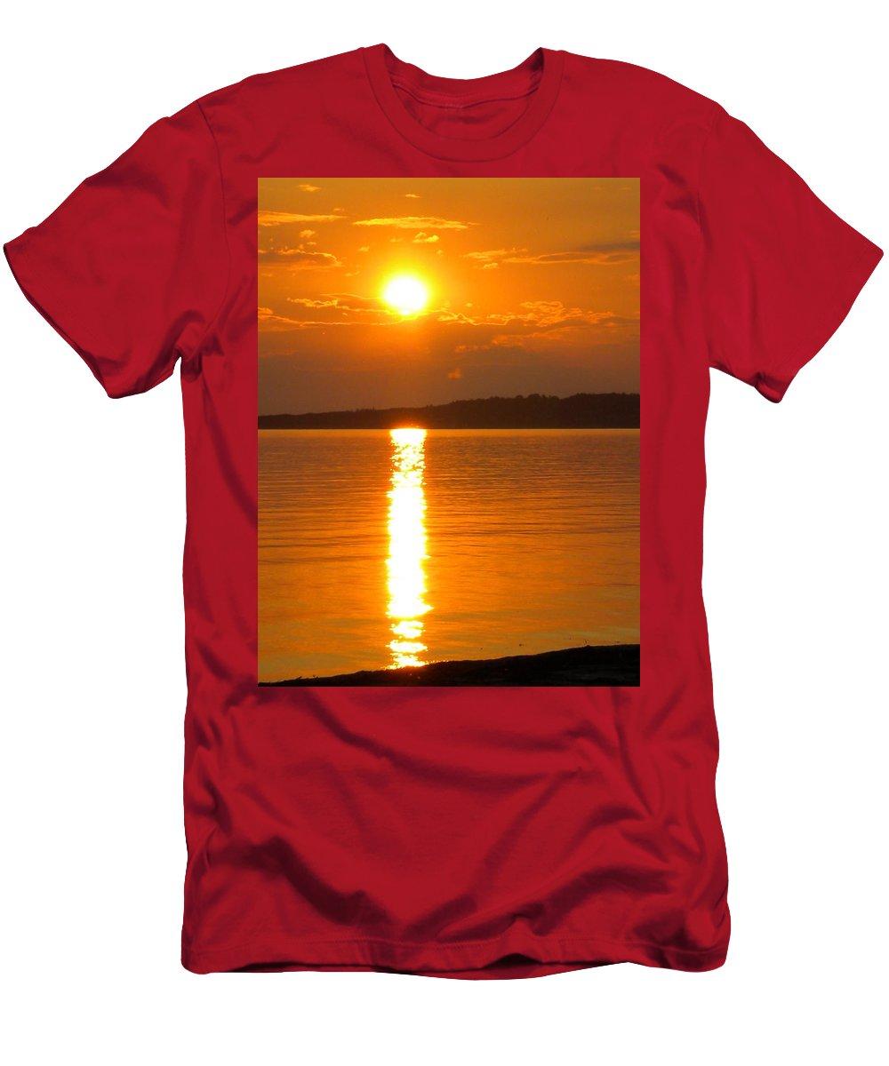 Colette Men's T-Shirt (Athletic Fit) featuring the photograph sunset Samsoe island Denmark by Colette V Hera Guggenheim