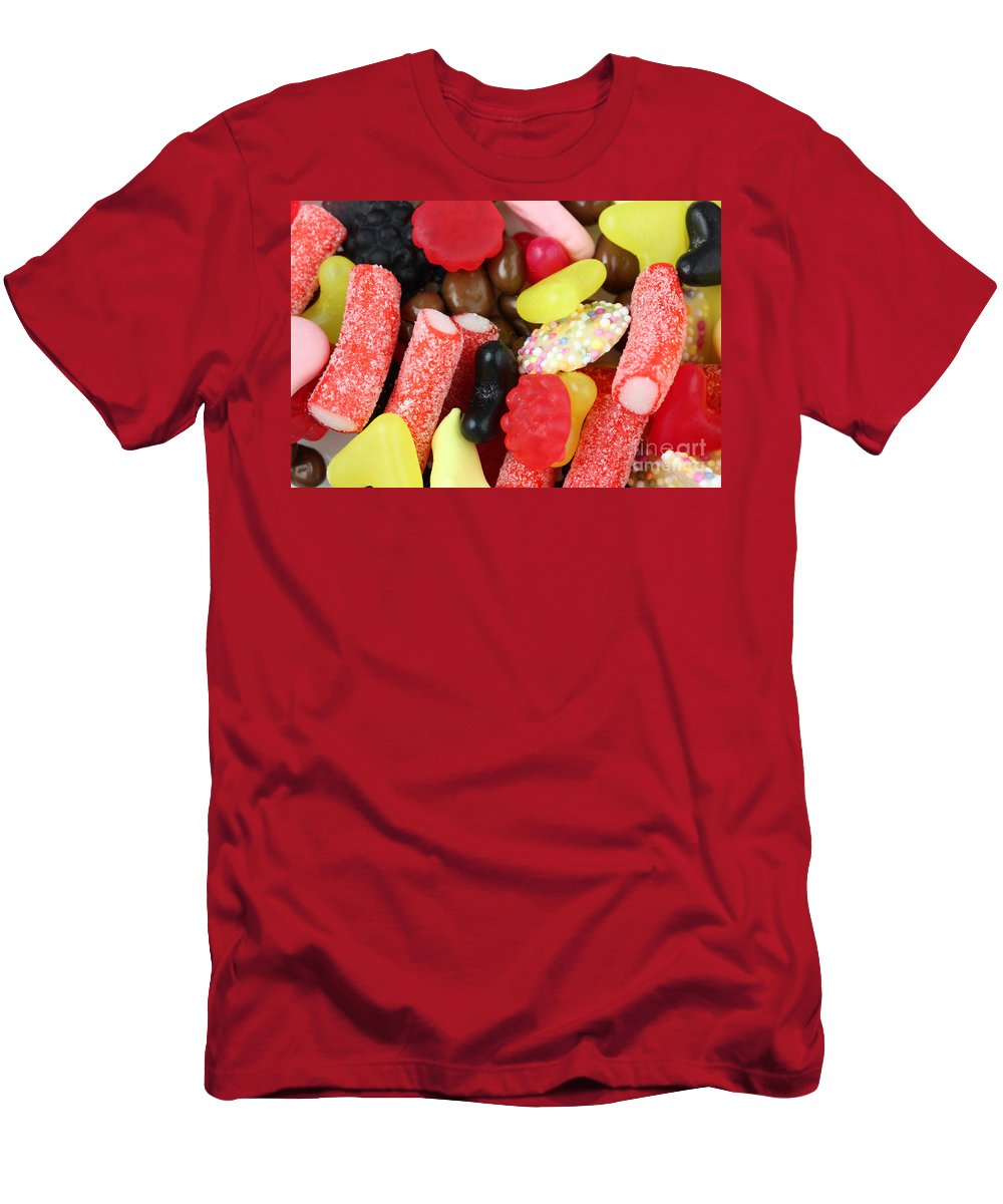 Sweets Men's T-Shirt (Athletic Fit) featuring the photograph Sweets And Candy Mix by Simon Bratt Photography LRPS