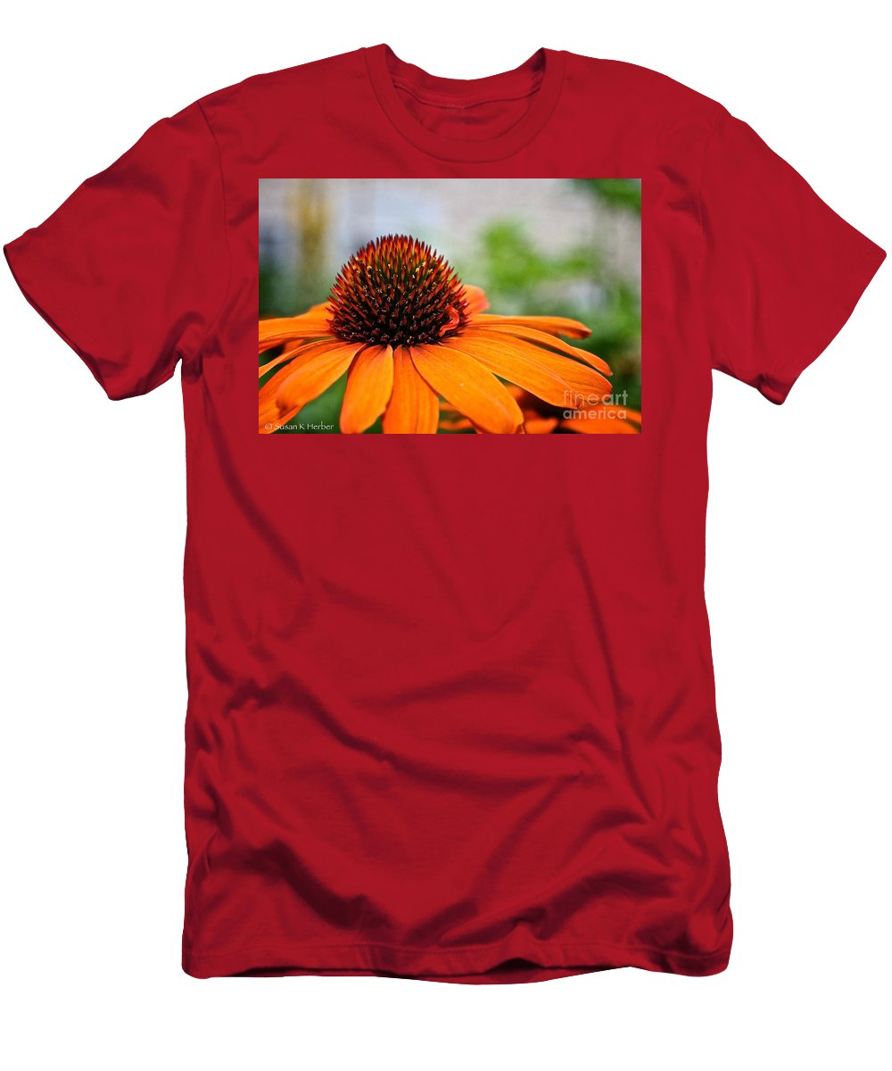 Outdoors Men's T-Shirt (Athletic Fit) featuring the photograph Tangerine Summer by Susan Herber