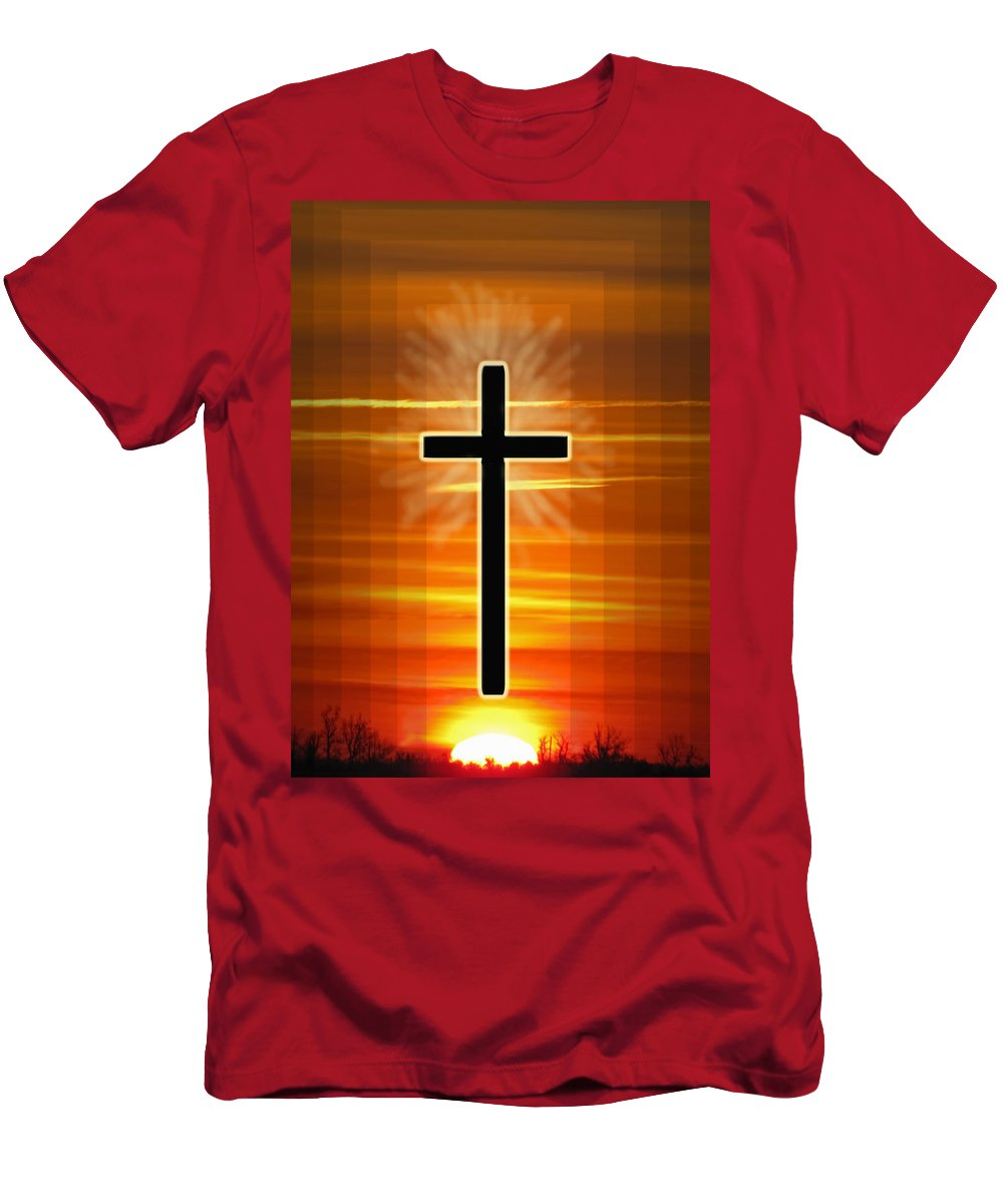 Men's T-Shirt (Athletic Fit) featuring the photograph The Cross by Debbie Portwood