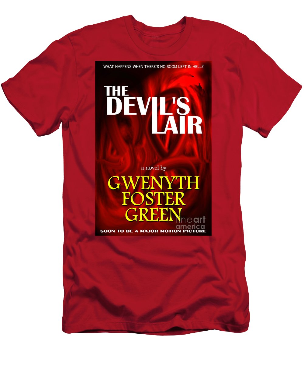 A Mock Book Cover Men's T-Shirt (Athletic Fit) featuring the photograph The Devil's Lair Book Cover by Mike Nellums