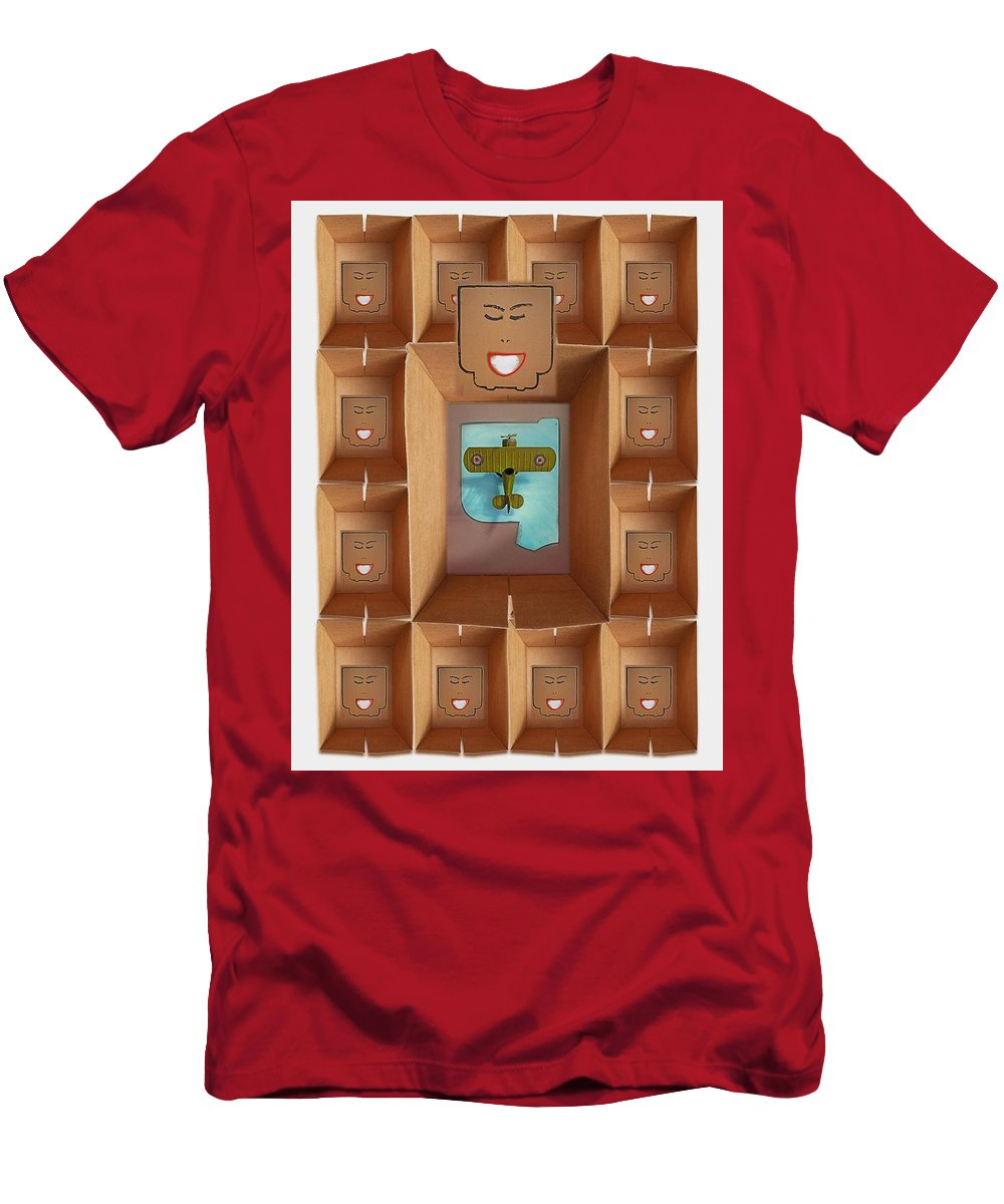 Magritte Men's T-Shirt (Athletic Fit) featuring the painting The Queens Pictures by Charles Stuart