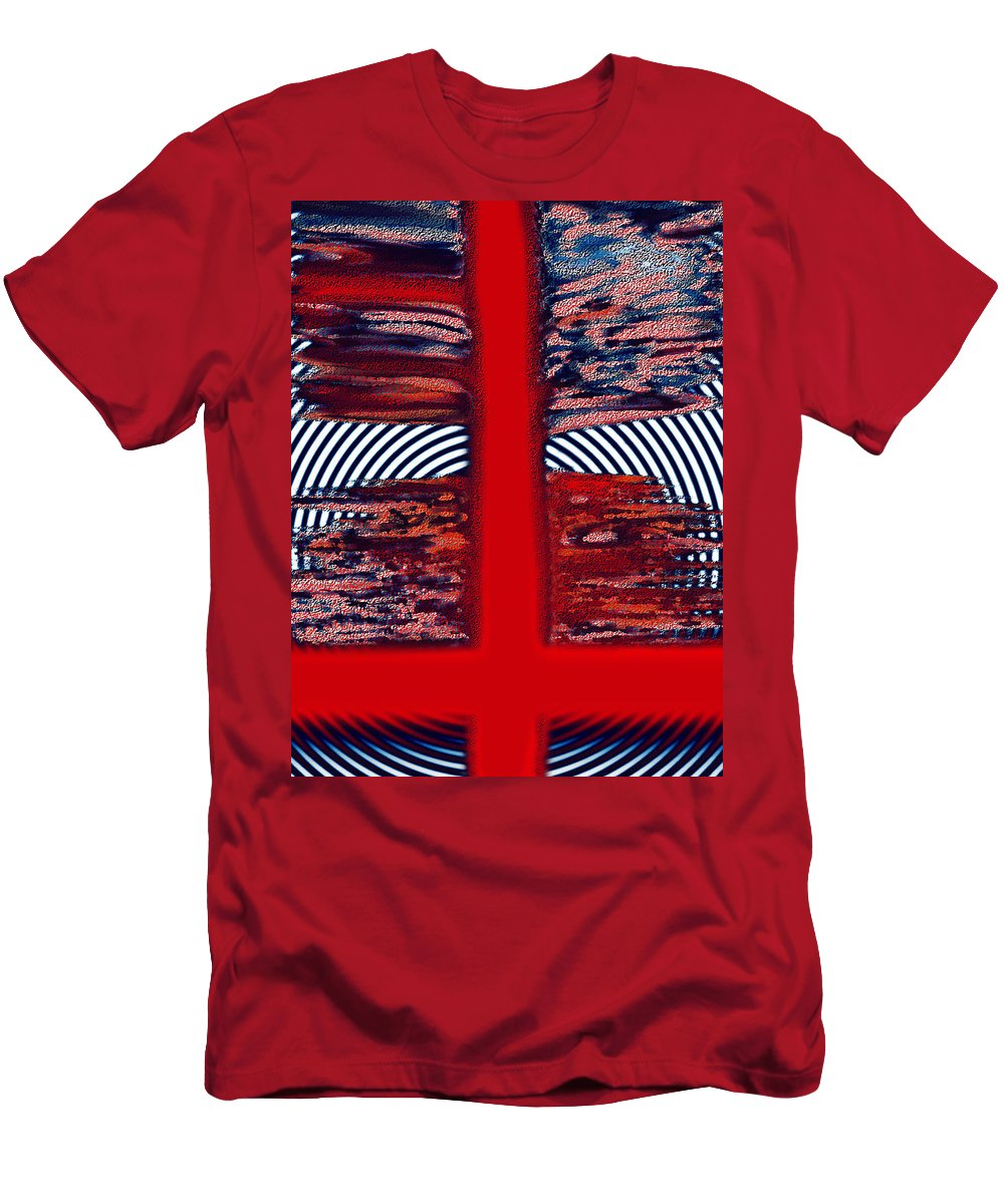Digital Graphic Men's T-Shirt (Athletic Fit) featuring the digital art The Target by Mihaela Stancu