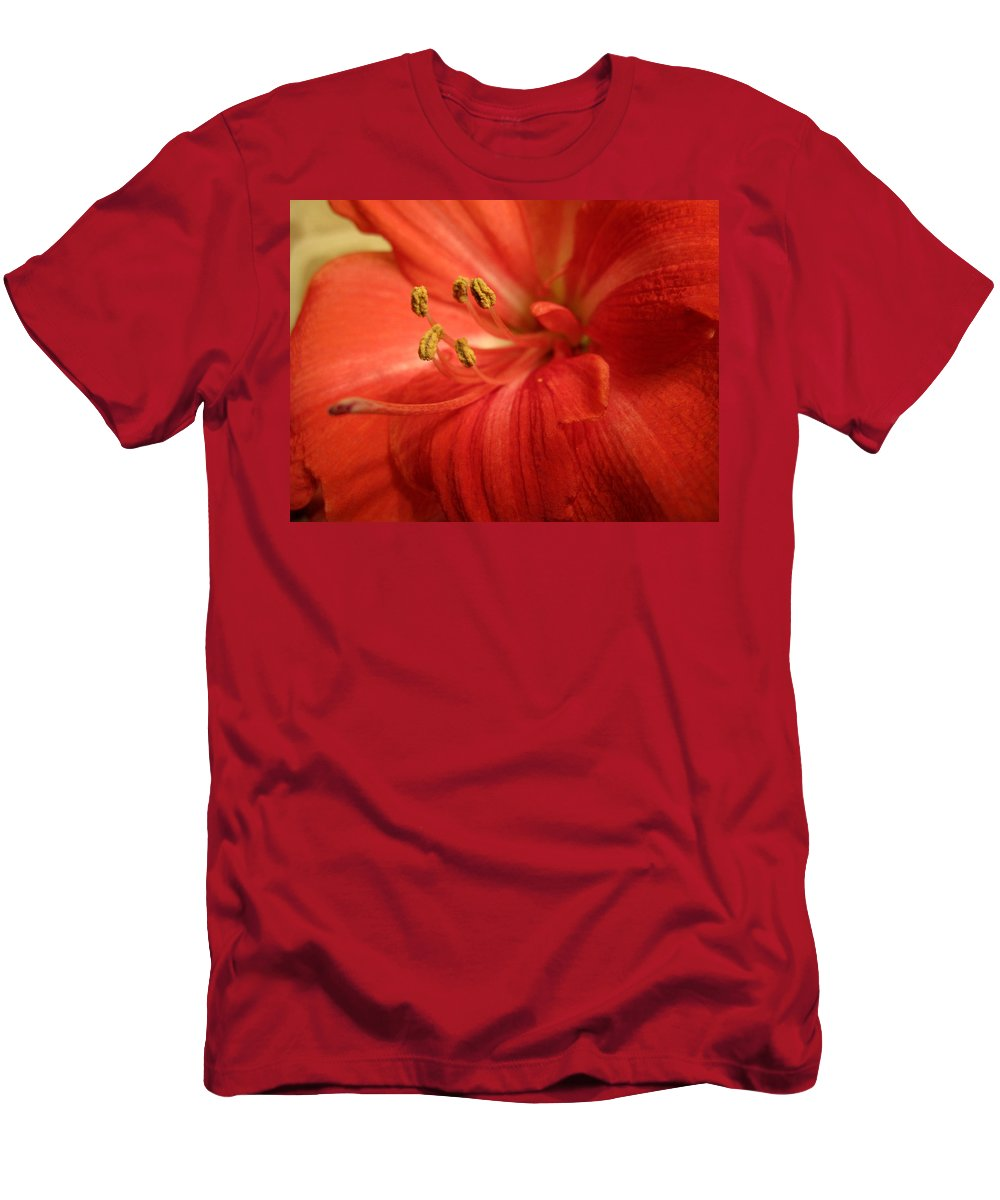 Red Men's T-Shirt (Athletic Fit) featuring the photograph Thrust by Ian MacDonald
