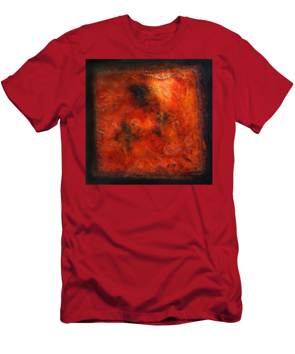 Art Men's T-Shirt (Athletic Fit) featuring the mixed media Trapped by Mauro Celotti