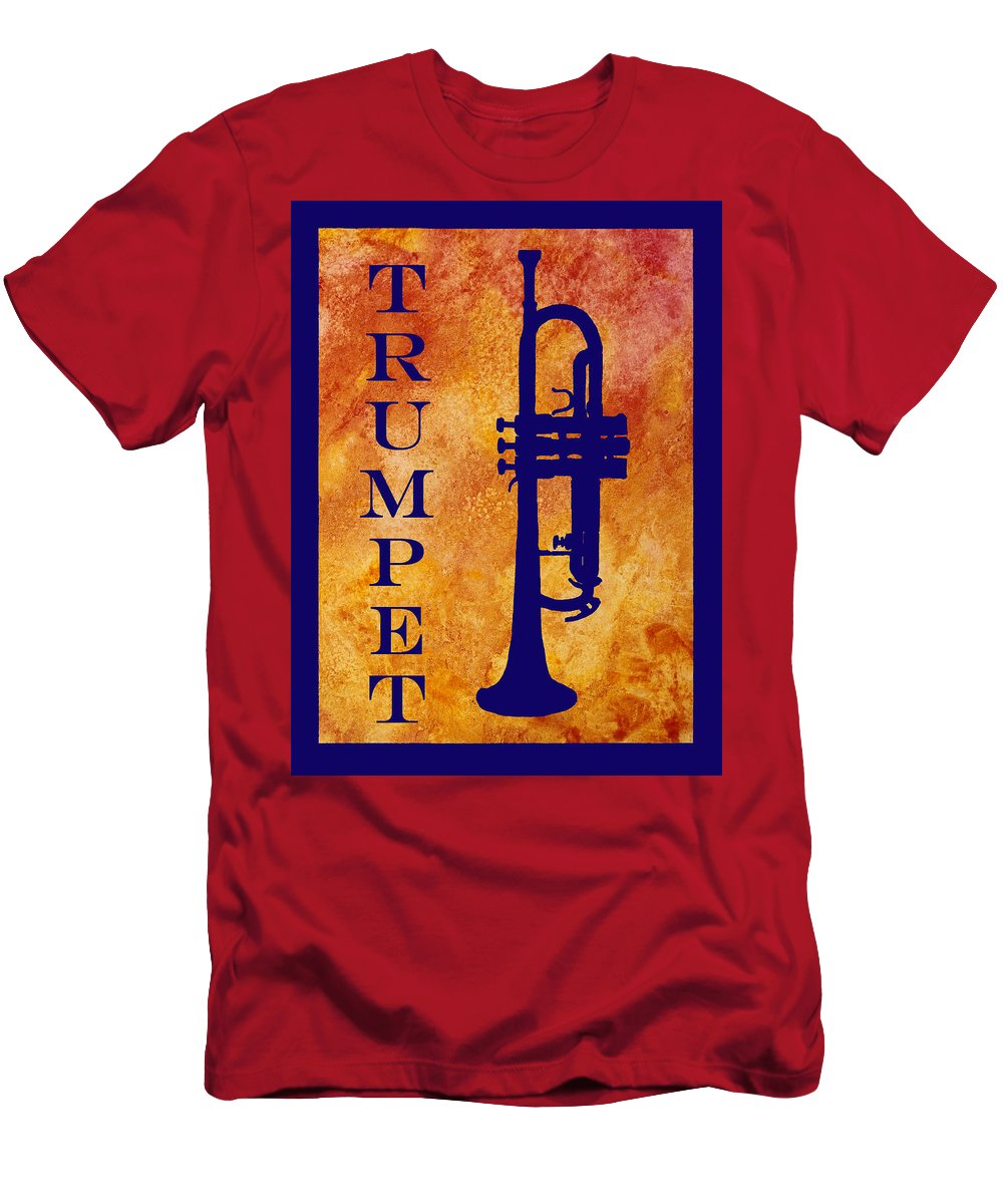 Trumpet Men's T-Shirt (Athletic Fit) featuring the digital art Trumpet by Jenny Armitage