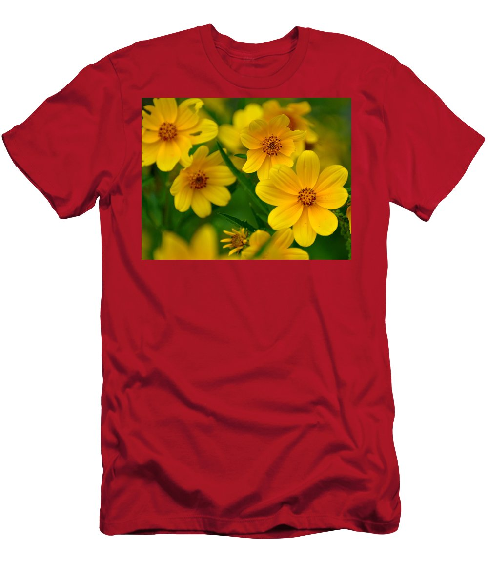Wildflower Men's T-Shirt (Athletic Fit) featuring the photograph Yellow Flowers by Marty Koch