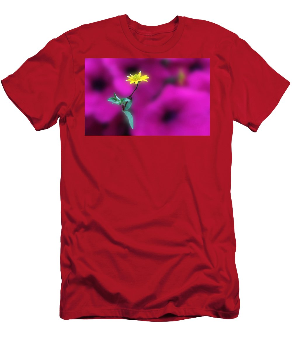 Acrylic Prints Men's T-Shirt (Athletic Fit) featuring the photograph Yellow by John Herzog