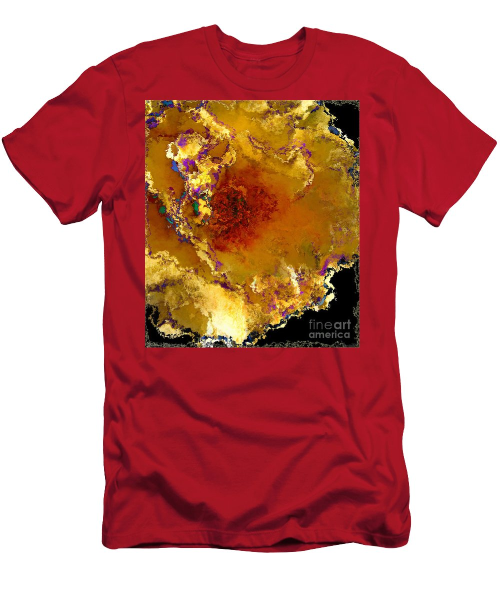 Botanical Men's T-Shirt (Athletic Fit) featuring the photograph Yellow Rose Art by Debbie Portwood
