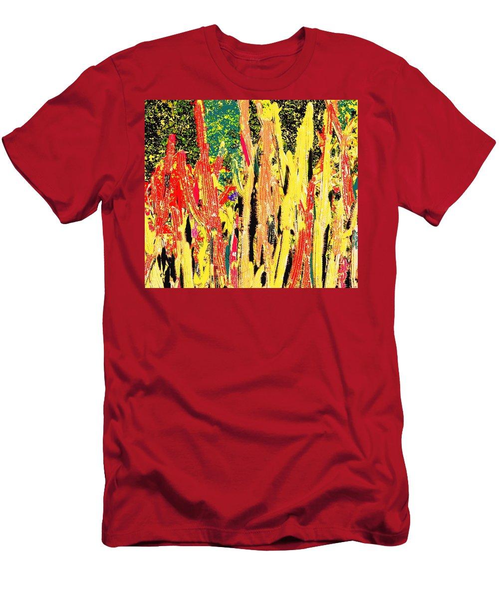 Cactus Men's T-Shirt (Athletic Fit) featuring the digital art Bridgestone Cacti by Ian MacDonald