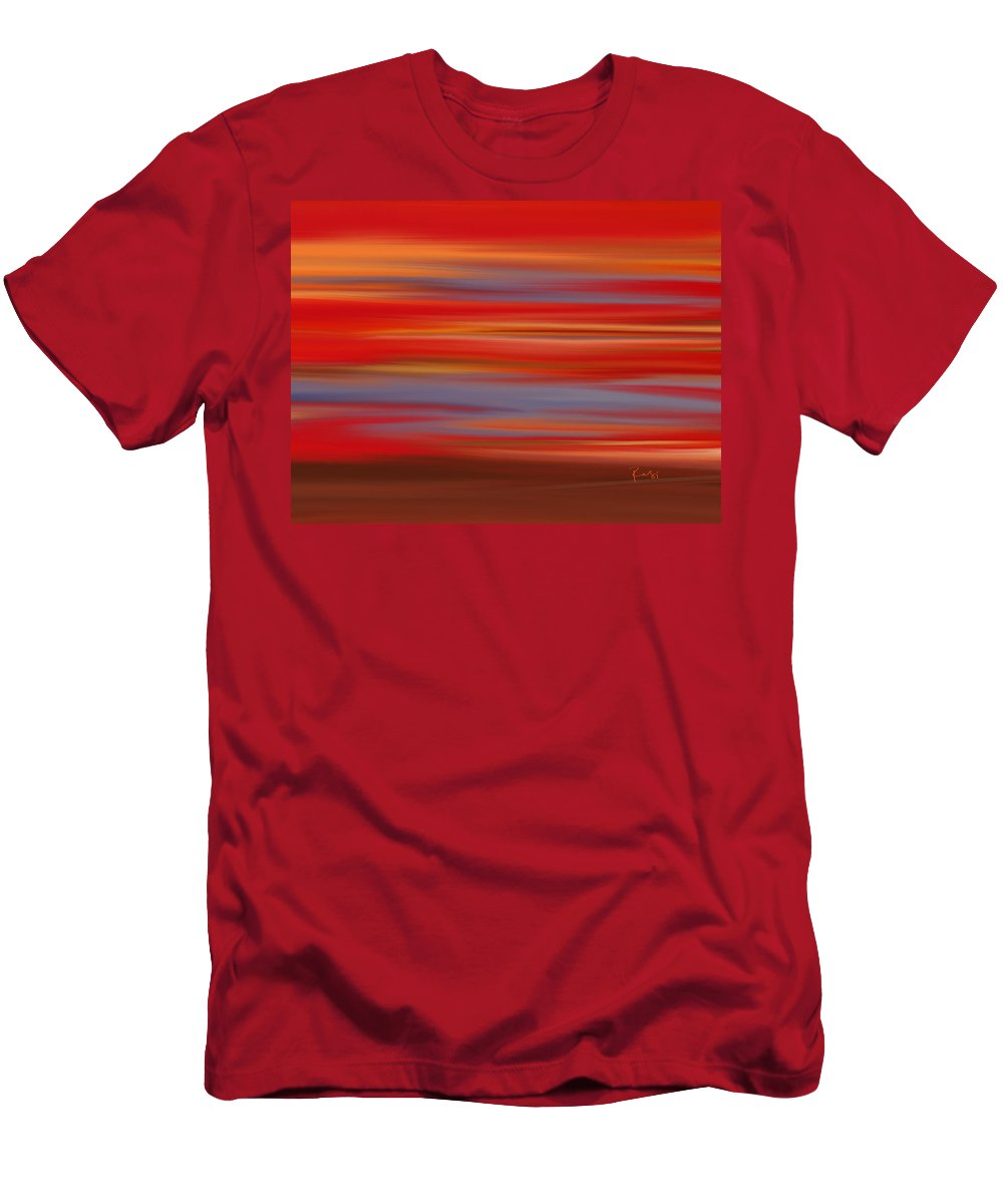 Abstract Men's T-Shirt (Athletic Fit) featuring the digital art Evening In Ottawa Valley by Rabi Khan