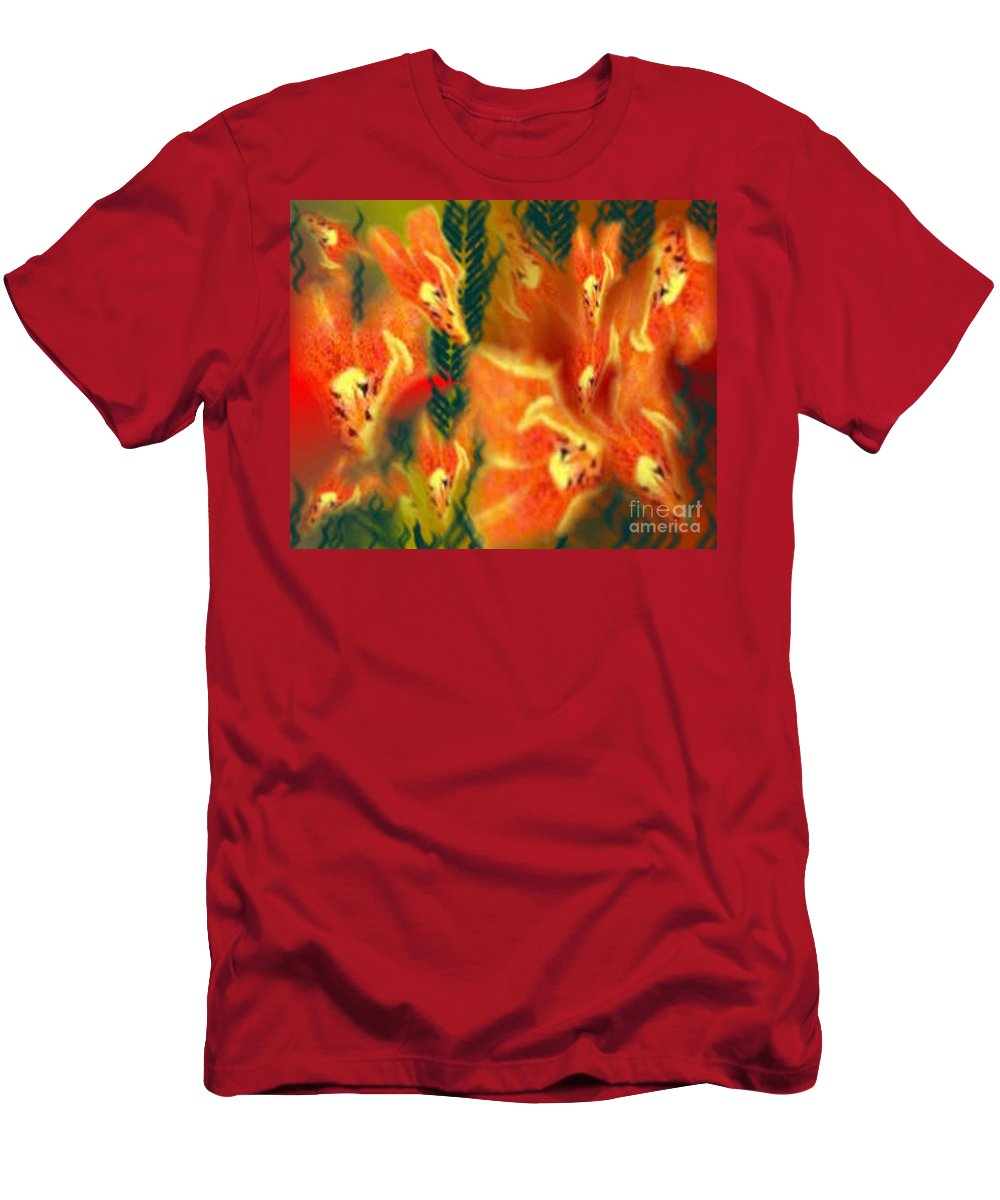 Florals Men's T-Shirt (Athletic Fit) featuring the digital art Symphonic Dance by Brenda L Spencer