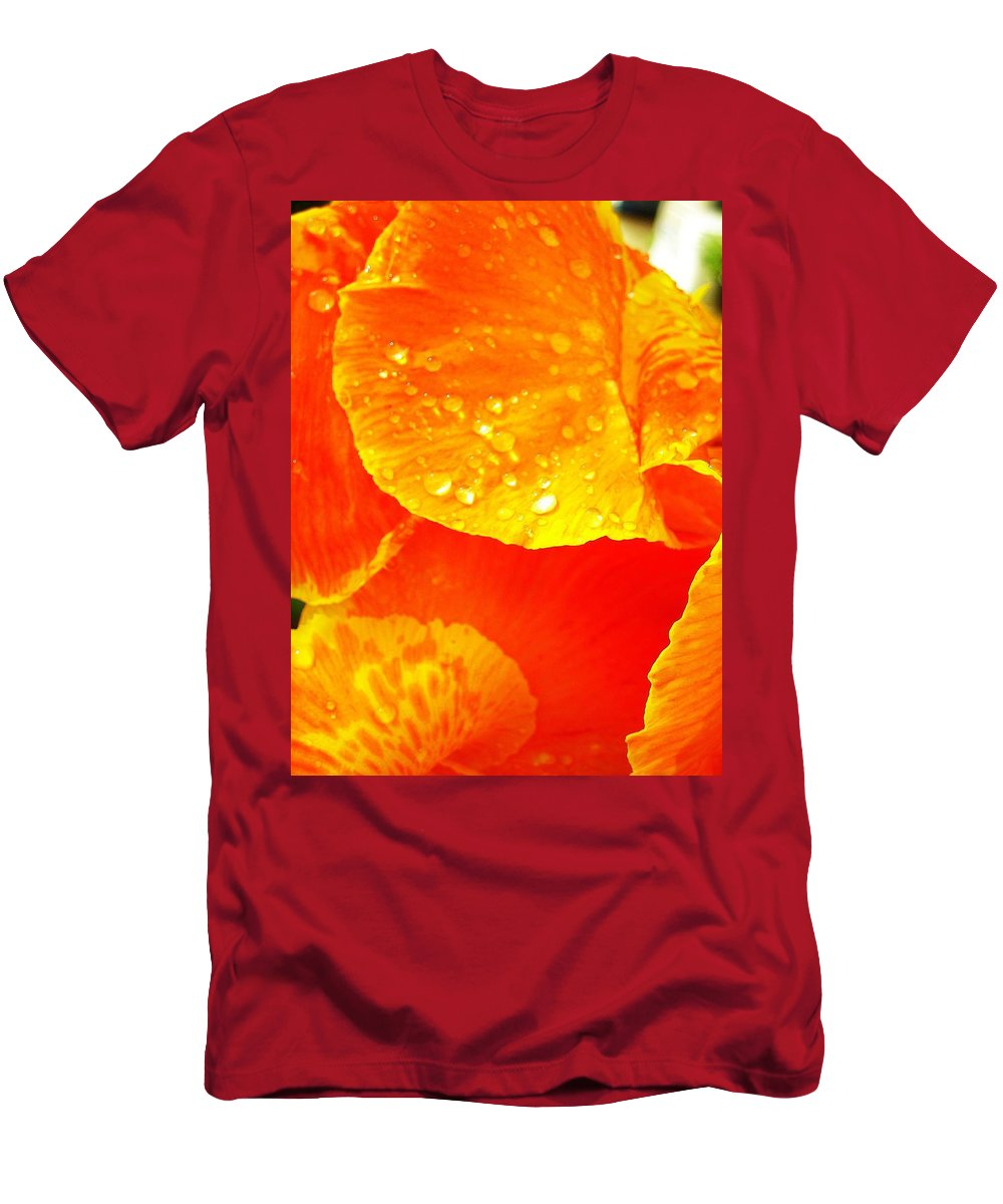 Flower Men's T-Shirt (Athletic Fit) featuring the photograph After The Rain ... by Juergen Weiss