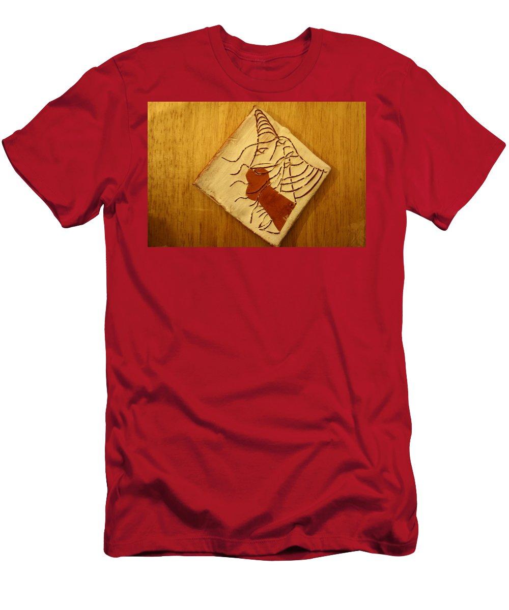 Jesus Men's T-Shirt (Athletic Fit) featuring the ceramic art Celia - Tile by Gloria Ssali
