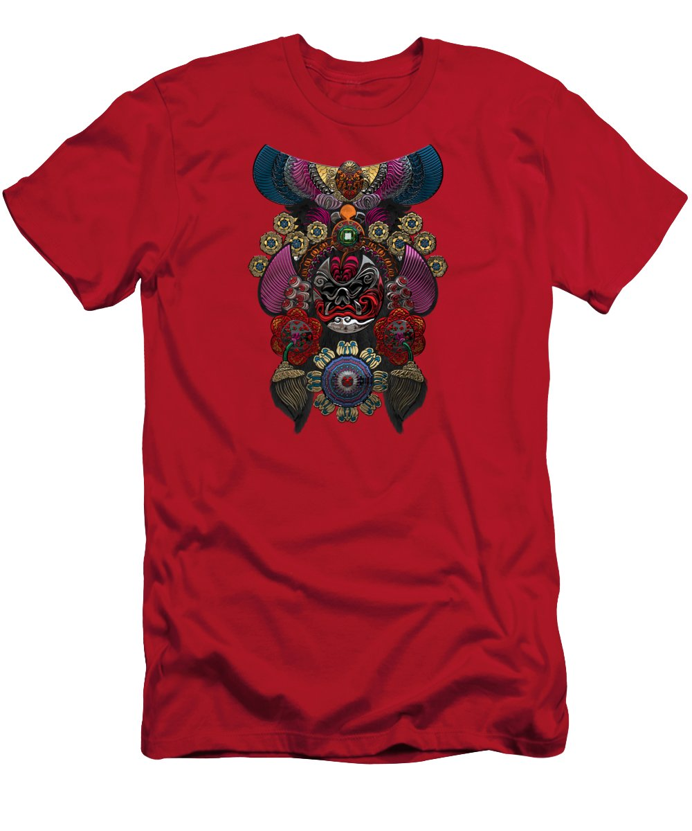 �treasures Of China� By Serge Averbukh T-Shirt featuring the photograph Chinese Masks - Large Masks Series - The Demon by Serge Averbukh