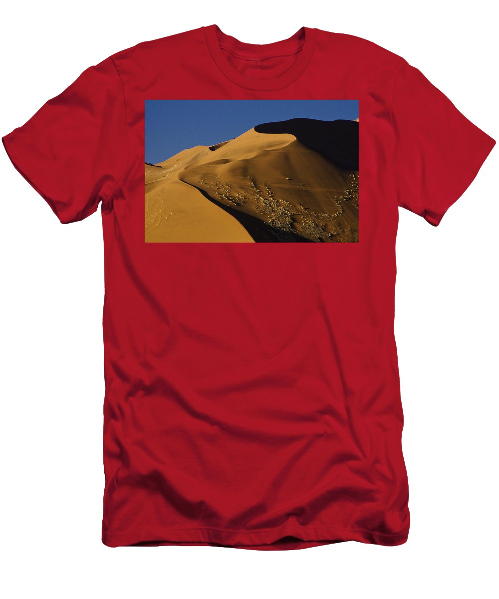Africa Men's T-Shirt (Athletic Fit) featuring the photograph Contours Of Sossusvlei by Michele Burgess
