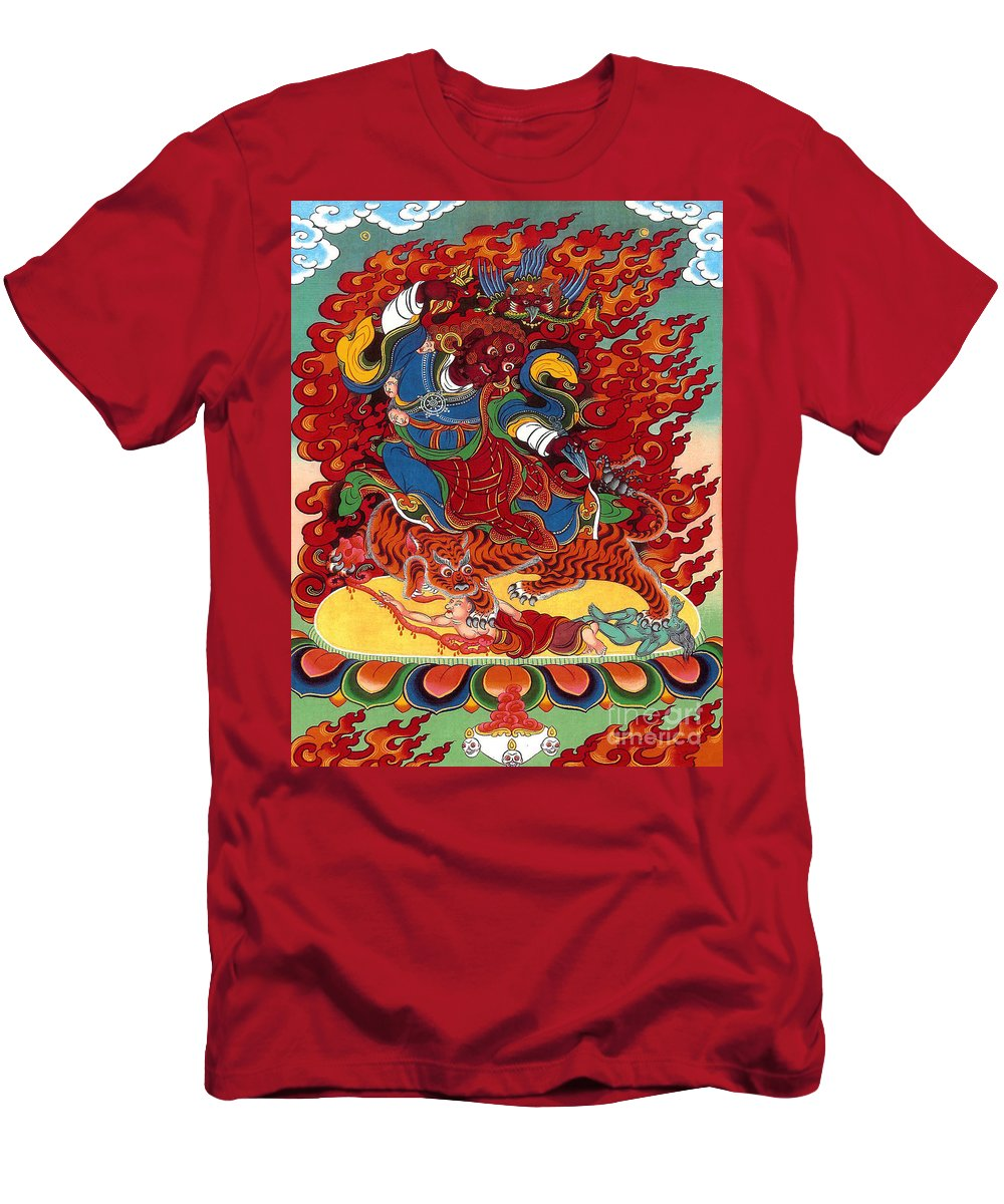Thangka Men's T-Shirt (Athletic Fit) featuring the painting Dudjom's Dorje Drollo by Sergey Noskov