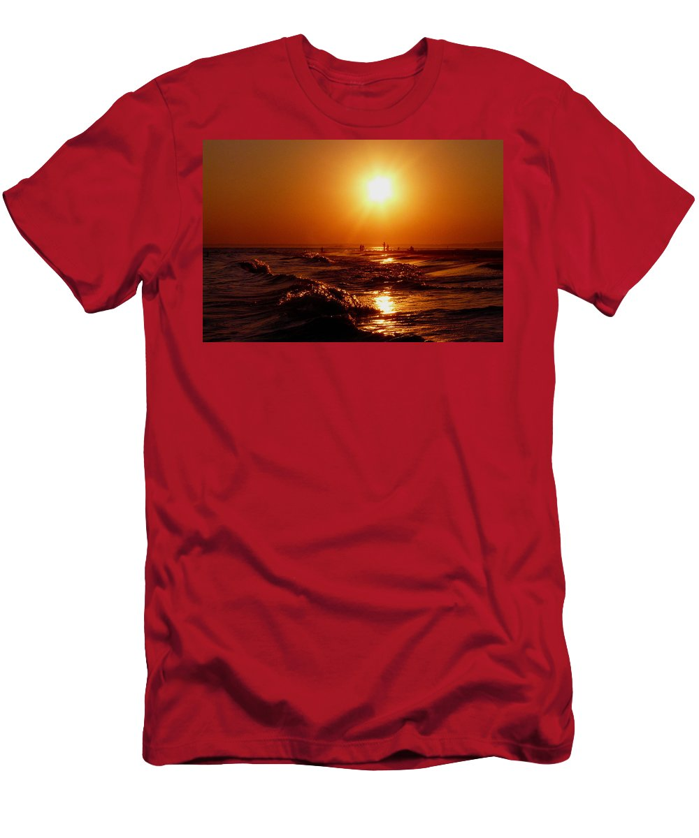 Sunset Men's T-Shirt (Athletic Fit) featuring the photograph Extreme Blazing Sun by Kendall Eutemey