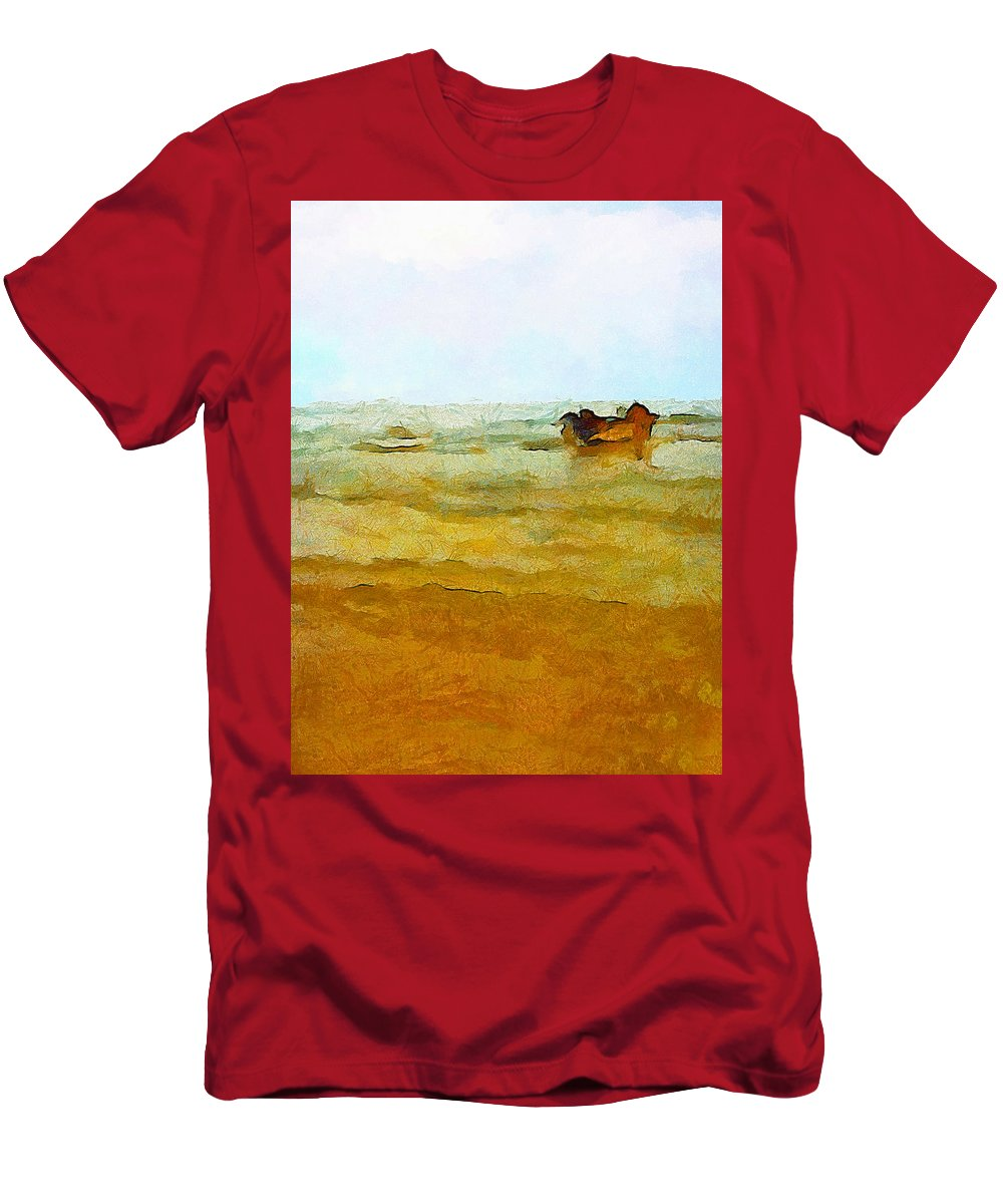 Abstract Men's T-Shirt (Athletic Fit) featuring the photograph Fishing Boat by Galeria Trompiz