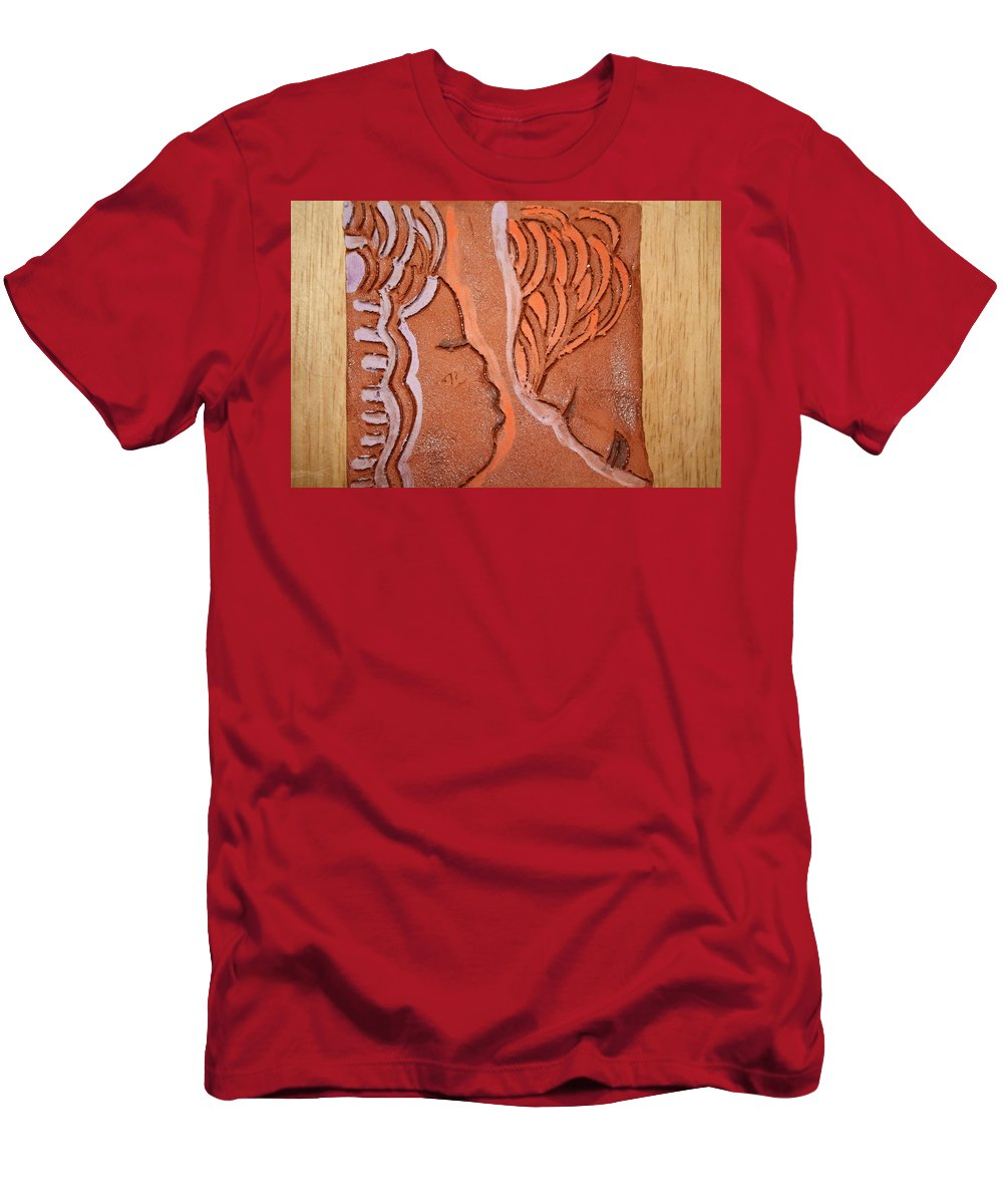 Jesus Men's T-Shirt (Athletic Fit) featuring the ceramic art Greeting - Tile by Gloria Ssali