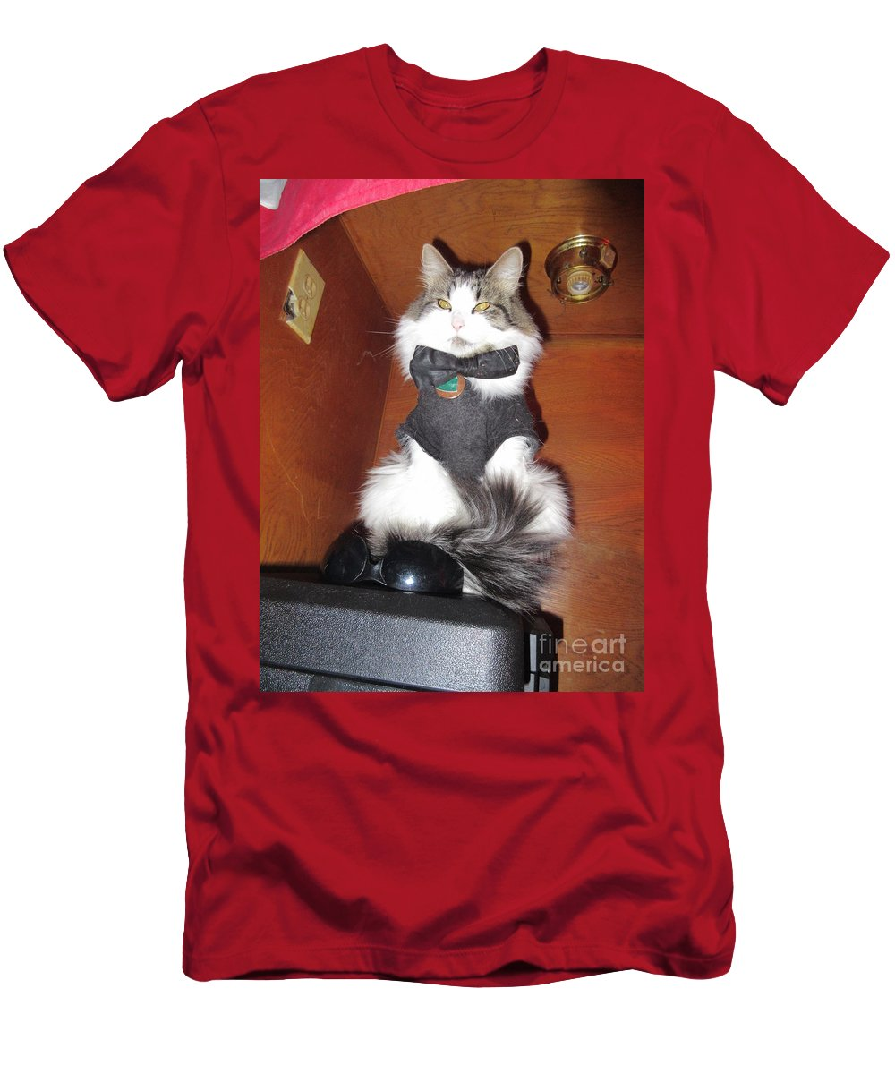 Guarding Men's T-Shirt (Athletic Fit) featuring the photograph Guarding The Shades by Frederick Holiday