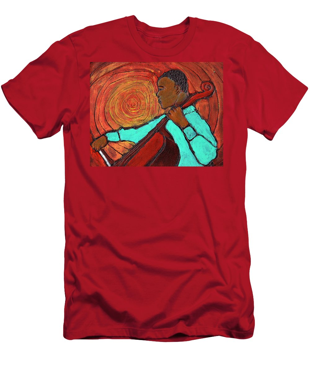 Jazz Men's T-Shirt (Athletic Fit) featuring the painting Hot Jazz by Wayne Potrafka