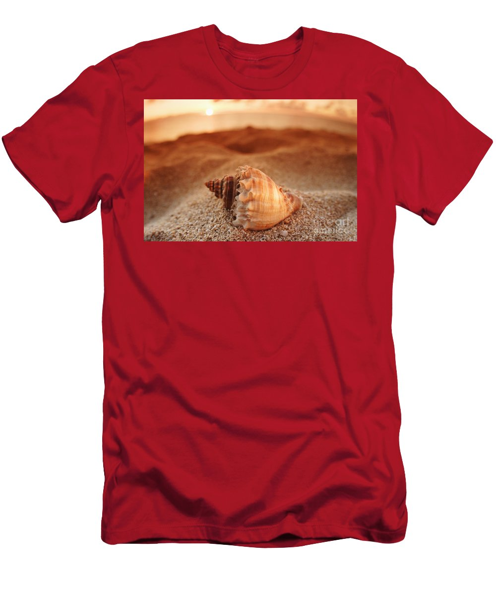 Background Men's T-Shirt (Athletic Fit) featuring the photograph North Shore Seashell by Vince Cavataio - Printscapes