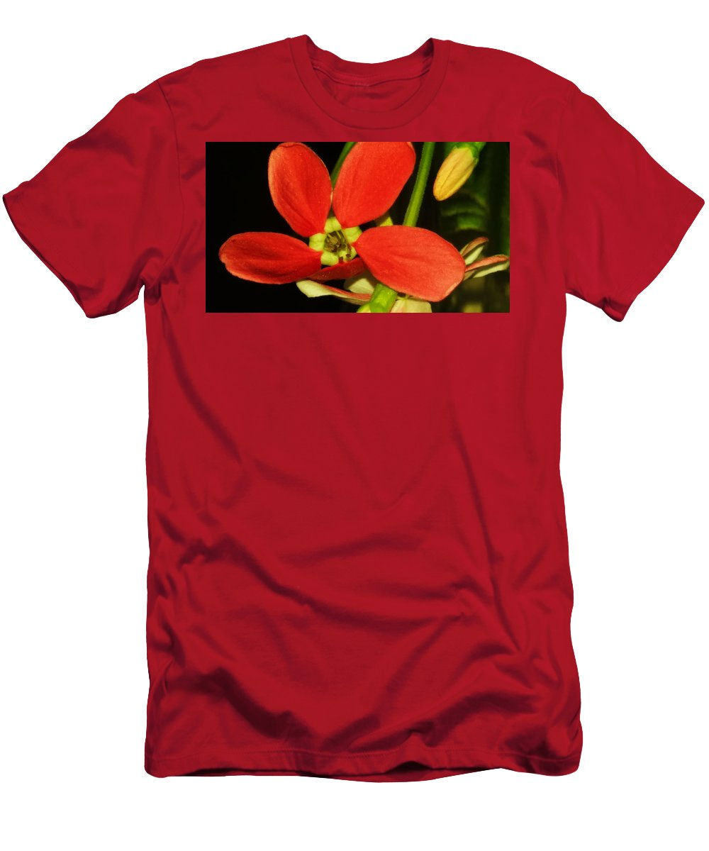 Wall Art Men's T-Shirt (Athletic Fit) featuring the photograph Orange Flower by Nilu Mishra